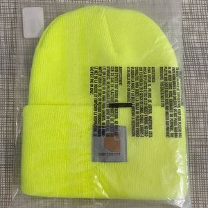 Carhartt Neon Yellow Beanie New NWT Adult Unisex